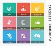 challenge icon set   Shutterstock .eps vector #593457662