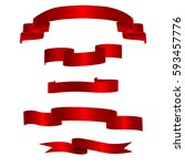 red ribbons horizontal banners... | Shutterstock .eps vector #593457776