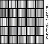 set of silver gradients.... | Shutterstock .eps vector #593457788