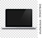 Modern Glossy Laptop Isolated...