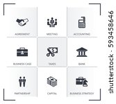 business icon set | Shutterstock .eps vector #593458646