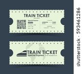 train ticket vintage concept... | Shutterstock .eps vector #593461286