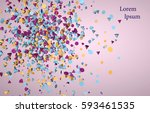 3d rendering colorful... | Shutterstock . vector #593461535
