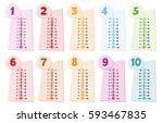 colorful multiplication table.... | Shutterstock .eps vector #593467835
