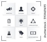 advertising icon set | Shutterstock .eps vector #593469695