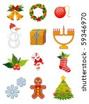 christmas decoration elements... | Shutterstock .eps vector #59346970