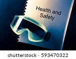health and safety document with ... | Shutterstock . vector #593470322