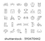 set  line icons with open path...   Shutterstock . vector #593470442
