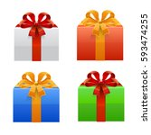 gift set. vector | Shutterstock .eps vector #593474255