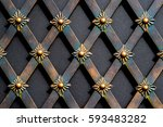 magnificent wrought iron gates  ... | Shutterstock . vector #593483282