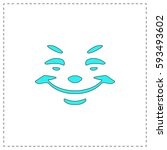 smile outline vector icon with...