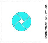 wave circle outline vector icon ...
