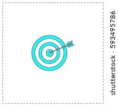 target outline vector icon with ...