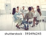 business people are using... | Shutterstock . vector #593496245