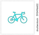 bicycle icon outline vector...