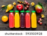 summer fresh drink in plastic... | Shutterstock . vector #593503928