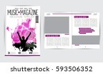 brochure layout | Shutterstock .eps vector #593506352