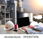 engineering industry concept in ... | Shutterstock . vector #593507396