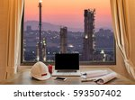 engineering industry concept in ... | Shutterstock . vector #593507402