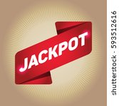 jackpot arrow tag sign. | Shutterstock .eps vector #593512616