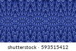 kaleidoscopic blue seamless... | Shutterstock . vector #593515412