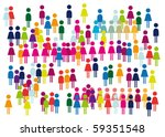 fans  viewers  crowd of... | Shutterstock .eps vector #59351548