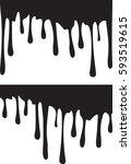 pair of black paint drips.... | Shutterstock .eps vector #593519615