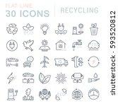 set  line icons in flat design... | Shutterstock . vector #593520812