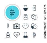 illustration of 12 medical... | Shutterstock . vector #593526575