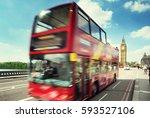 motion bus in london  uk | Shutterstock . vector #593527106