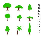 tree set simple | Shutterstock .eps vector #593535782