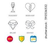 broken heart  brilliant and...   Shutterstock .eps vector #593536532