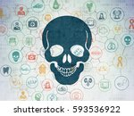 healthcare concept  painted... | Shutterstock . vector #593536922