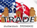 trade concept with the original ... | Shutterstock . vector #593540432