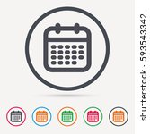 calendar icon. events reminder... | Shutterstock .eps vector #593543342