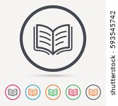 book icon. study literature... | Shutterstock .eps vector #593545742
