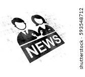 news concept  pixelated black... | Shutterstock . vector #593548712
