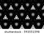 picture with black and white... | Shutterstock . vector #593551598