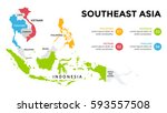 Southeast Asia Map Infographic...
