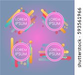 abstract retro background with... | Shutterstock .eps vector #593561966