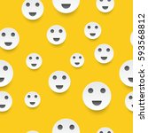 emoticon face smile  pattern... | Shutterstock .eps vector #593568812