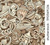 cartoon cute doodles hand drawn ... | Shutterstock .eps vector #593569136