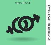 heterosexual vector illustration | Shutterstock .eps vector #593575136