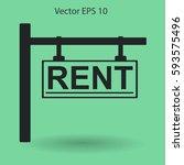 signboard rent vector...   Shutterstock .eps vector #593575496
