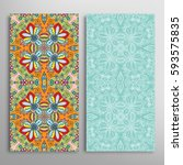 vertical seamless patterns set  ... | Shutterstock .eps vector #593575835