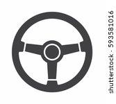 steering wheel icon | Shutterstock .eps vector #593581016