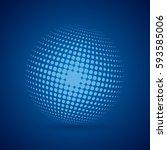 vector modern techology concept ... | Shutterstock .eps vector #593585006