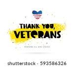 thank you  veterans. honoring...   Shutterstock .eps vector #593586326