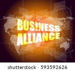 management concept  business... | Shutterstock . vector #593592626