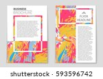 abstract vector layout... | Shutterstock .eps vector #593596742